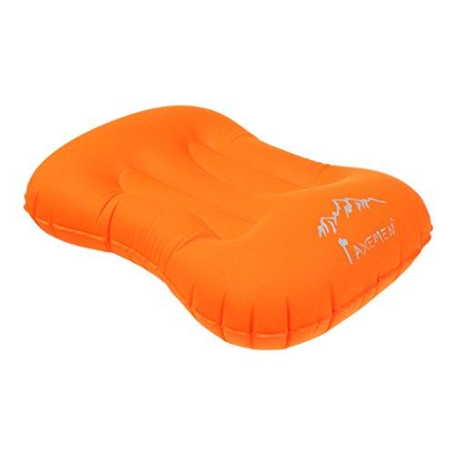 #N/A Cojín hinchable para exteriores y cojín de Cusion portátil, color naranja