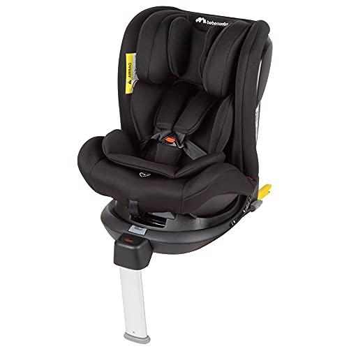 Bebe Confort EvolveFix, Silla de coche ISOFIX giratoria 360, 0-36 kg, Grupo 0/1/2/3 desde el nacimiento hasta los 12 años, Reclinable y evolutiva, Night Black (negro)