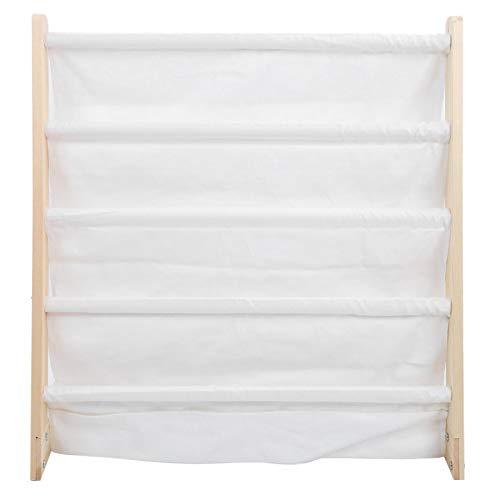 Emoshayoga Fácil de Instalar, decoración del hogar de Pino + algodón, 24,4 x 10,2 x 25,2 Pulgadas, Estante de Lectura para bebés para el hogar