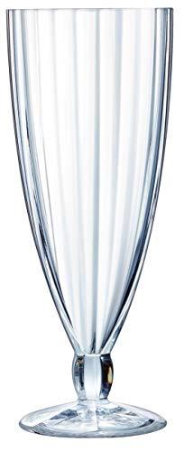 Luminarc Lot de 6 Gobelets à Glace Quadro Ice Verre Transparent, Verre, Transparent, 500 ml