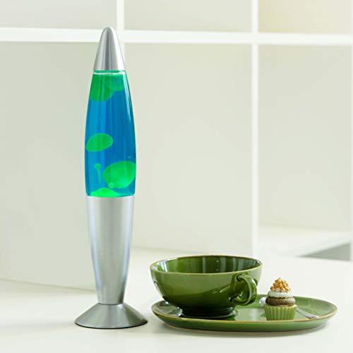 Lampe à lave 35cm vert bleu Timmy E14 idée cadeau Anniversaire de Noël rétro ampoules incluses [classe d'énergie E]