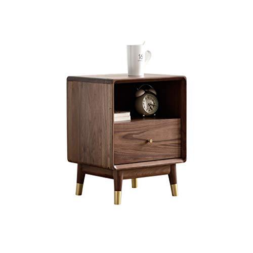 Nightstand GCX- Mesita de noche para dormitorio, mesita de noche, taquilla para sala de estar, sofá, armario lateral de moda (color de nogal)