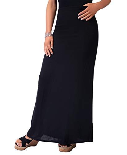 KRISP® damska długa spódnica Maxi prosta spódnica letnie spódnice lekkie