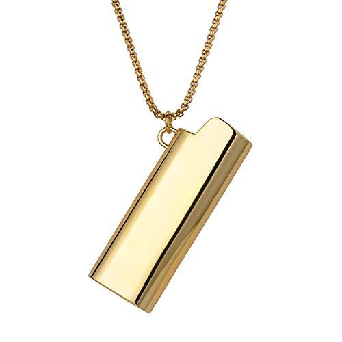 Zilveren gouden legering aansteker ketting hiphop aansteker shell hanger lange ketting mannen sieraden accessoires