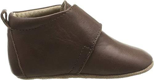Bisgaard Unisex Baby Velcro Star Pantoffeln, Braun (60 Brown), 25 EU