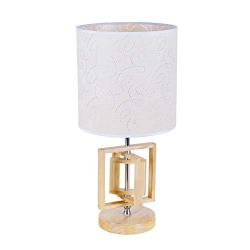 E27 Lámpara escritorio Con pantalla de tela de lino, Simple Creativo Iluminación de la tabla Para Dormitorio Sala de estar-H:40cm(15.7in) interruptor de botón
