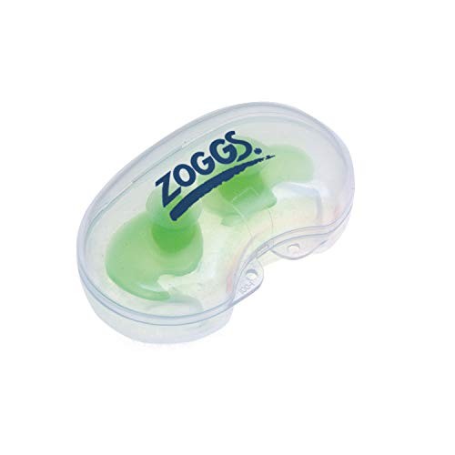 Zoggs Aqua Plugz Ear Plugs for Swimming, Green, Junior