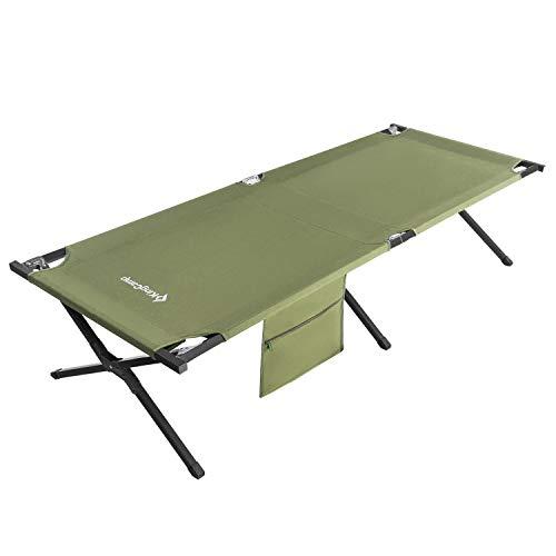 tragbares Belastbarkeit: 135 kg Camping-Bett f/ür Indoor Camping und Outdoor-Einsatz /über dem Boden Zuhause und Festival faltbares Feldbett f/ür Camping KingCamp ultra leichtes