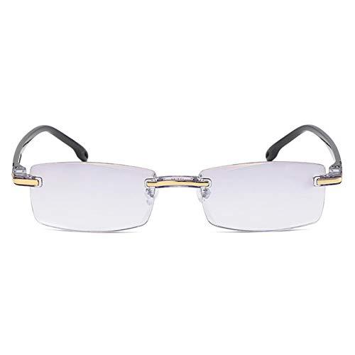 MEISHU Rimless Reading Glasses for Women Men, Progressive Dual-Purpose Reading Glasses With High Hardness And Anti-Blue Light (+1.00)