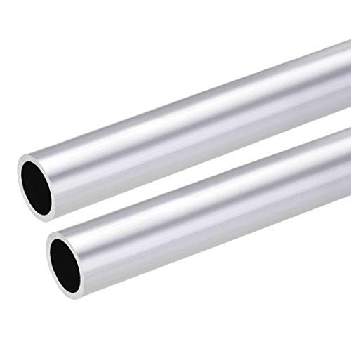 uxcell 6063 Aluminum Round Tube, 25mm OD 20mm Inner Dia 300mm Length Seamless Straight Tubing 2 Pcs