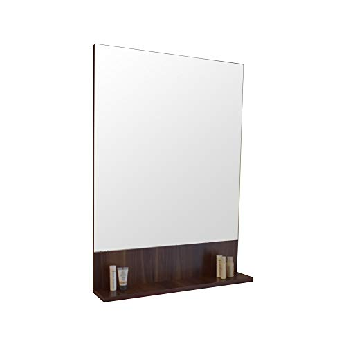 VANITY SALE Bathroom Mirror for Wall – Walnut Color Frameless Rectangle Wall -