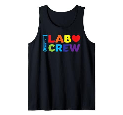 Equipo de laboratorio de la tripulación de laboratorio Camiseta sin Mangas