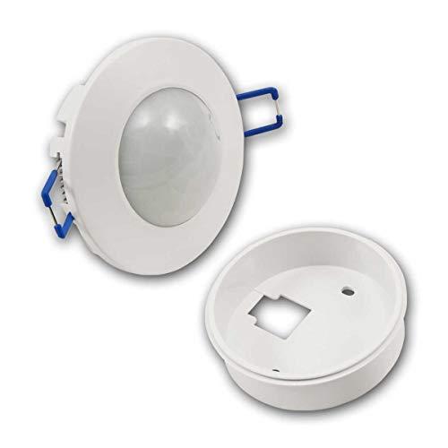 world-trading-net - Detector de movimiento empotrado/de superficie'WTN-FLAT', sensor IR, alcance de detección 360°, apto para LED