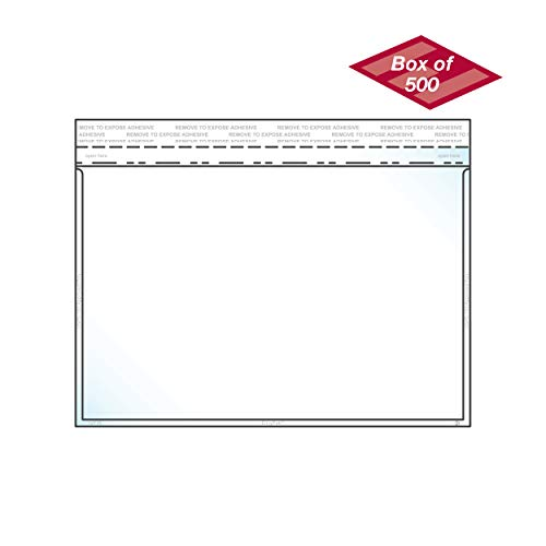 EnvyPak Clear Booklet/Catalog Envelope - Permanent Peel and Seal Closure - Holds 5.5″ x 8.5″ Insert - Box of 500