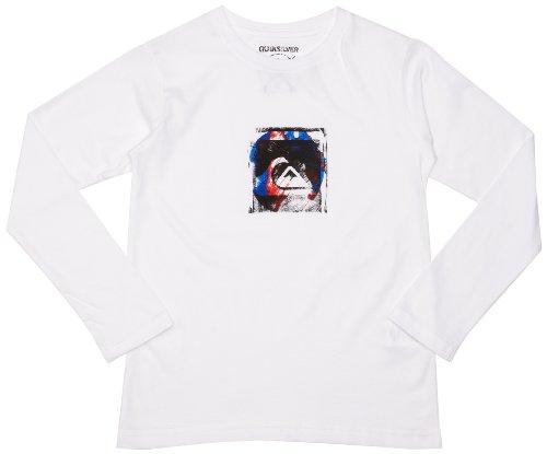 Quiksilver Baseline Ls Tee Youth-KPBJE98115 T-shirt à manches longues garçon Blanc 14 ans