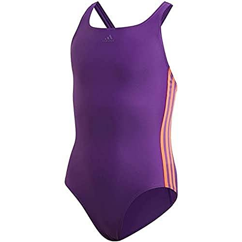 adidas Mädchen Badeanzug FIT Suit 3S Y, Purglo/Apsord, 116 (5/6 años), FL8669