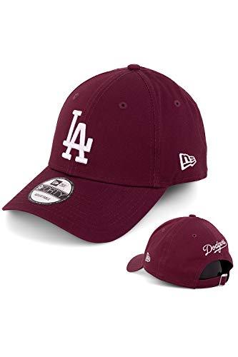 New Era Baseball Cap Basecap Herren Limited Edition mit Extra Team Stickerei auf Rückseite Kappe Schirmmütze Mütze 9 Forty Snapback LA Dodgers Maroon