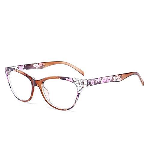 Yi-xir Gafas de lectura unisex ultraligeras de policarbonato con marco entero, de resina HD, perfectas clásicas (color: marrón)