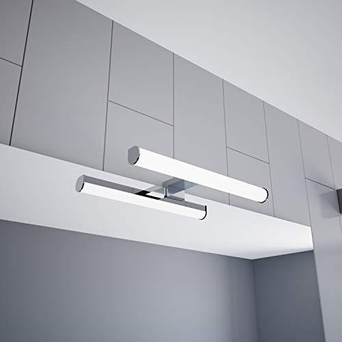 LED Spiegelleuchte 300mm Aufbauleuchte 230V Badezimmer Leuchte verchromt, Auswahl:300mm - Neutralweiss