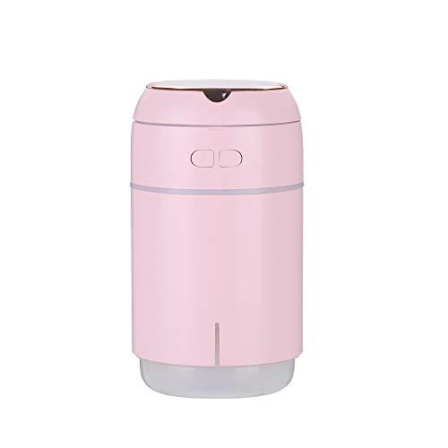 HANPIN-PETS Viajes Humidificador USB Purificador De Aire Escritorio En Casa En Coche Humidificador Portátil De Regalo Espejo De Maquillaje Belleza Hidratación, Rosa