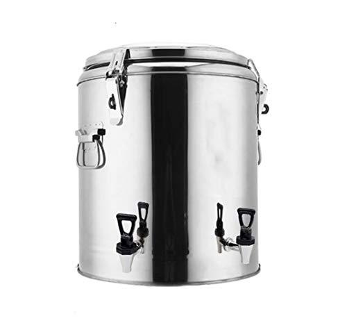 JSHFD Catering Kessel Isolierung Barrel Thermos Große Kapazität Lagereimer Stahlzylinder Heißes/Kaltes Wasser Oder Pump Action for Kommerzielle 50L / 60L / 70L (Color : Silver, Size : 70L)