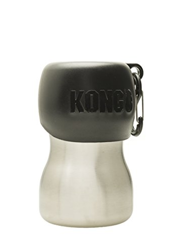 KONG H2O Stainless Steel Water Bottle, 270 ml, Small, Black