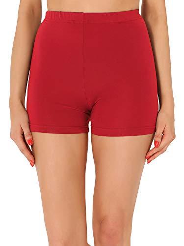 Merry Style Leggins Cortos Malla Deportiva Short Mujer MS10-391 (Rojo, M)