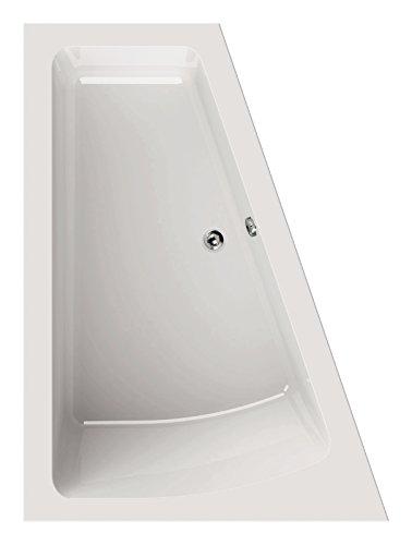 'aquaSu® Acryl - Badewanne droPino I 170 x 125 cm I Weiß I Rechts I Wanne I Badewanne I Bad I Badezimmer