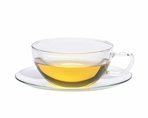 Trendglas Jena Teetasse OPUS mit Glasunterteller, 0,2 Liter