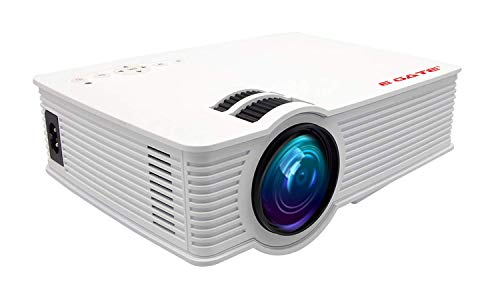 Egate i9 Pro Android Full HD 1080p Modulated at 720p base |2100L (180 ANSI) with 120' (3.04m) Large Display LED Projector |AV,HDMI,SD Card ,USB, Audio Out, CPU, Android, Wifi |(EGi9A /Classic) (White)