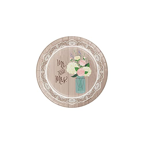 Creative Converting 8-Count Sturdy Style 10-Inch Banquet Plate  Rustic Wedding  Multicolor
