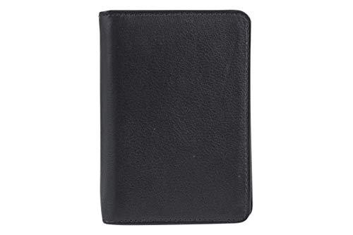 LEAS Ausweishülle, Ausweismappe Echt-Leder, schwarz Card-Collection