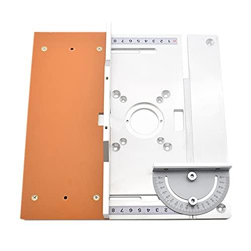 Mesa de enrutador de aluminio Placa de inserción para bancos de carpintería Fresadora de madera eléctrica Máquina de recorte de placa de giro Mesa de guía (E)
