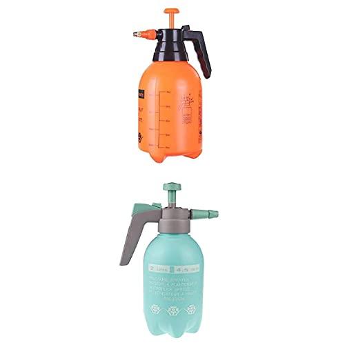 perfk 2 Stück Handheld Garten Druck Pumpsprüher Rasen Wasser Sprühflasche 2L