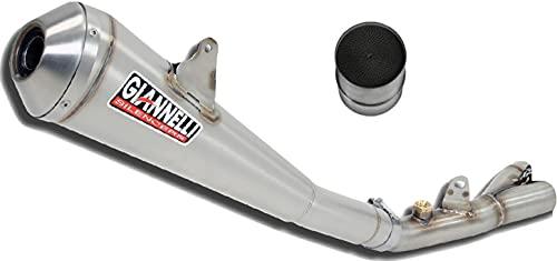 giannelli tubo de escape homologado catalizado gx-one nichrom compatible con ktm duke 125 2011 2012 2013 2014 2015 2016 mototopgun 73428gx + 70514ct