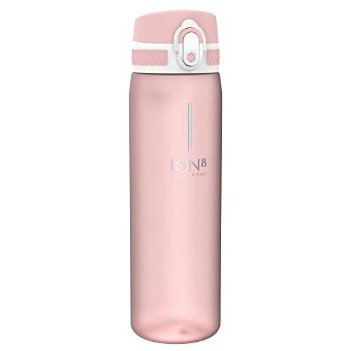 Ion8 Auslaufsichere Schlanke Trinkflasche, BPA-frei, 500ml, Erröten Rosa