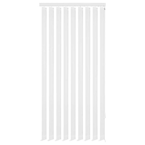 vidaXL 242847 - Cortina de láminas Verticales (150 x 250 cm, Tela, 150 x 250 cm), Color Blanco
