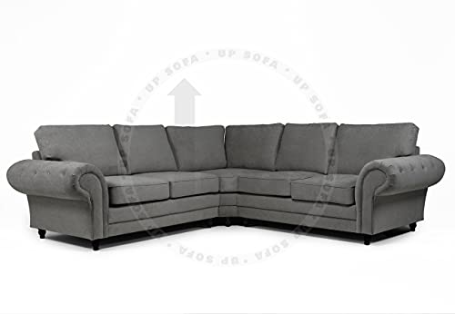 Chesterfield ROMA - Sofá esquinero (color gris oscuro)