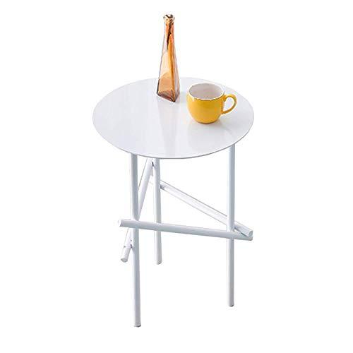 Axdwfd Tableau latéral de canapé de table basse en métal, approprié au bureau de chambre à coucher de salon, etc. 40 * 58CM (couleur: noir/blanc)