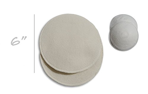 New Soothingly Soft Organic Merino Wool Nursing Pads, Style EKSTRA, Small - 6 in. Diameter