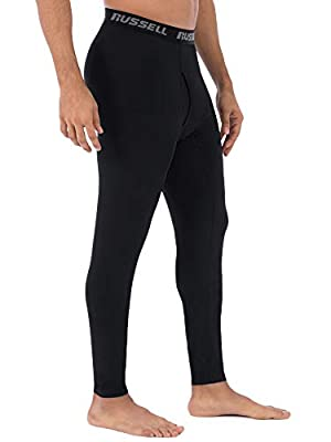 "Russell Men's Performance Active Baselayer Thermal Pant/Bottom (Medium (Waist 32""-34""), Black)"