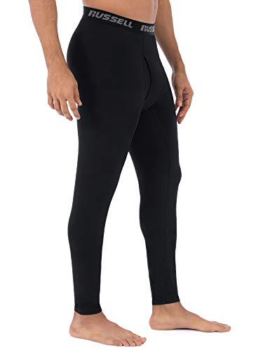 """Russell Men's Performance Active Baselayer Thermal Pant/Bottom (Large (Waist 36""""-38""""), Black)"""