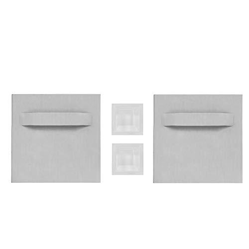 Haftbleche / Spiegelaufhänger SET (+ Abstandhalter), ZHB000113, 70 x 70 mm, bis zu 6 Kg Tragkraft, Aufhänger für Spiegel, Glasbilder, Alu-Dibond. Selbstklebend