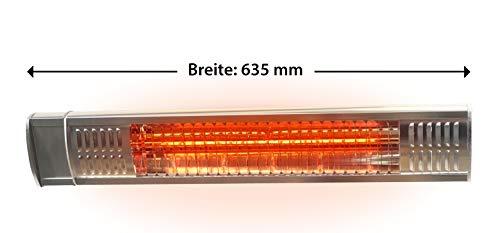 Gardigo Edelstahl Infrarotstrahler Heizstrahler, Terrassenstrahler wärmt gezielt Menschen, 2000 W, Deutscher Hersteller - 3