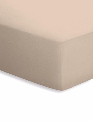 Schlafgut Spannbettlaken aus elastischem Jersey, 50171 140 x 200 cm Beige/Sand