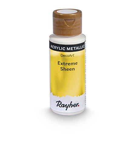 Rayher Hobby 35014616 Extreme Sheen Metallic-Farbe, gold, Flasche 59 ml, Acrylfarbe metallic, patentierte Rezeptur
