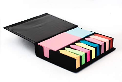 Projects Haftnotizen \'International\' - MEGAPACK mit 2000 Stück Inhalt - 10 verschiedene Farben in 3 Formaten - Gut organisiert im Büro & Haushalt - sicher verpackt - Premium Qualität (schwarz)