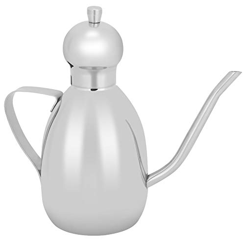 Botella envase de aceite de oliva de 500 ml, vinagreras de aceite y vinagre de acero inoxidable con utensilio de cocina de pico largo