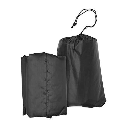 DDU Cubierta de Muebles De Jardín Conjunto Silla Pesa A Prueba Polvo para Patio al Aire Libre Imperméable Negro 120 * 120 * 74 cm
