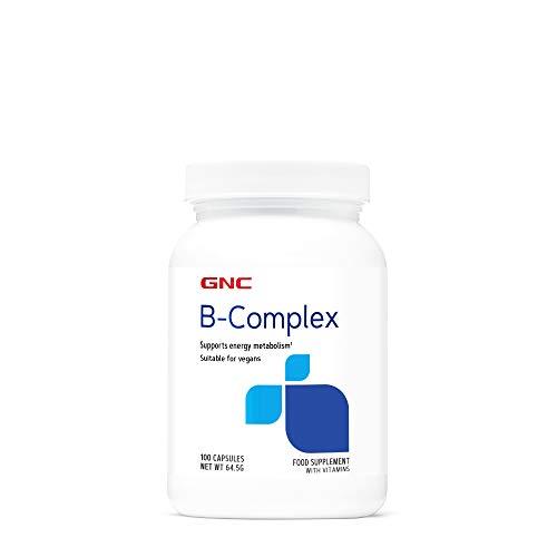 GNC Vitamin B Complex 50mg, 100 cápsulas, apoya el metabolismo energético